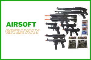 giveaway for airsoft gun and mask