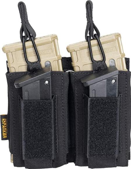 Triple Mag Pouch for M4 M14 M16 AK AR Elastic Kangaroo Rifle Magazines