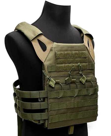 Gray Tactical Gear Tactical Airsoft Outdoor Molle Breathable JPG Vest