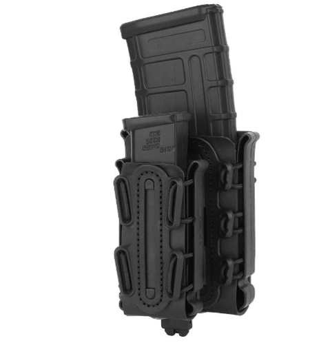 KRYDEX Mag Pouch 5.56mm 7.62mm Magazine Pouch + 9mm .45 Pistol Mag Pouch Combo