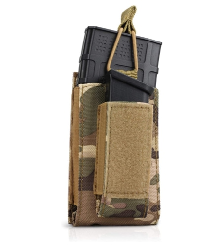Mag Pouch, Elastic Rifle and Pistol Magazine Pouches Kangaroo Mag Carrier with Front Loop Surface for for M4/16 AR AK G36