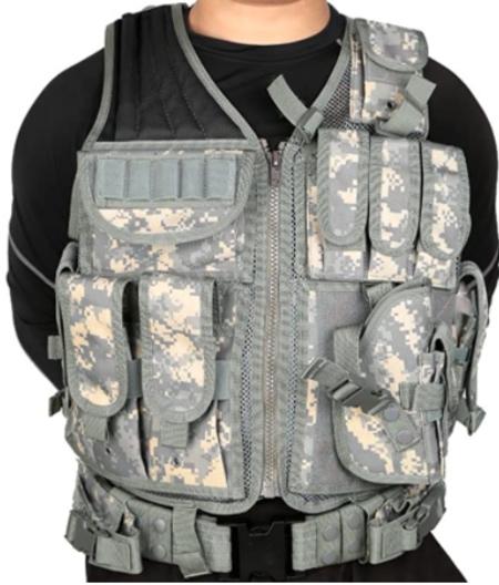 Lixada Military Tactical Vest Airsoft Vest Adjustable Breathable Combat Training Vest