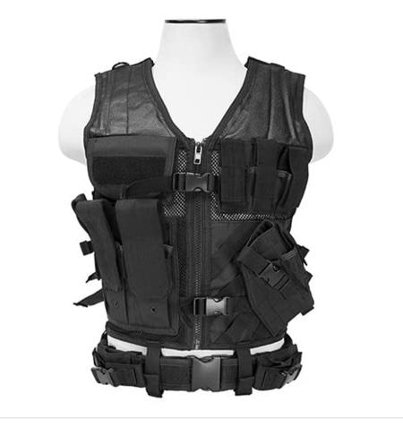 VISM by NcStar Tactical Vest (CTV2916B), Black, adjustable