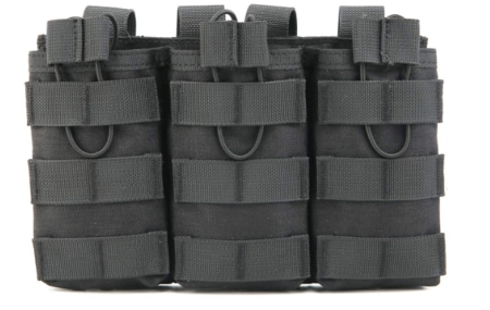 Tactical Outdoor Triple M4/M16 Open Top Mag Pouch