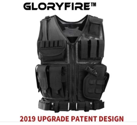 GLORYFIRE Tactical Vest Modular Assault Vest Law Enforcement Vest