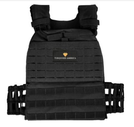 TURQUOISE AMERICA Adjustable Weighted Vest,